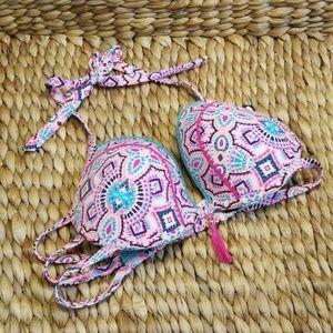Shade and shore colorful swim bra size 38C, 36DD